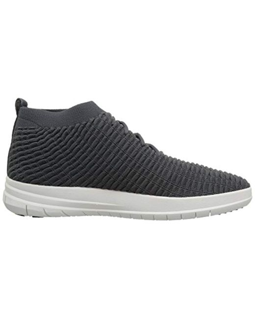 8408d753a8967 ... Fitflop - Gray Uberknit Slip-on High Top Sneaker In Waffle Knit for Men  ...