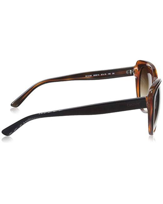 52808a8a39a4b Lyst - DKNY 0dy4125 Cateye Sunglasses in Black - Save 64%