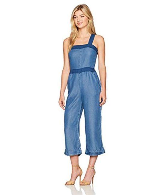 Splendid - Blue Blocked Indigo Jumpsuit - Lyst