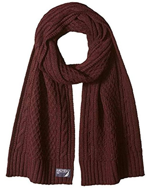 Nautica - Multicolor Cable Border Scarf for Men - Lyst