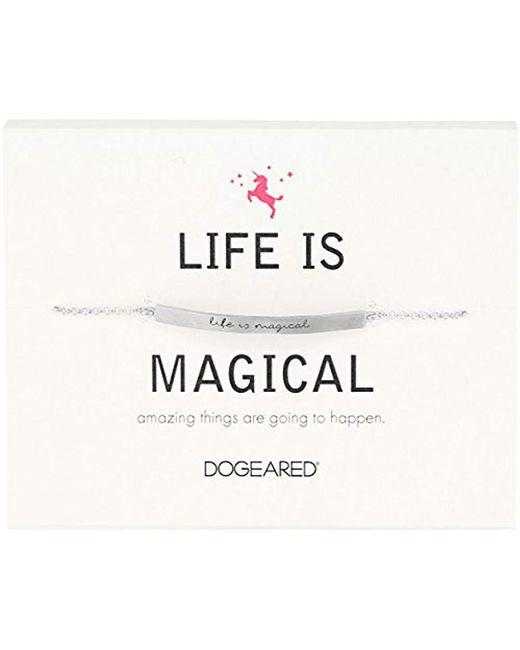 Dogeared - Metallic Id Life Is Magical Thin Bar Bracelet - Lyst