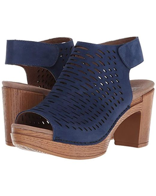 8a252eec7be Lyst - Dansko Danae Heeled Sandal in Blue - Save 35%