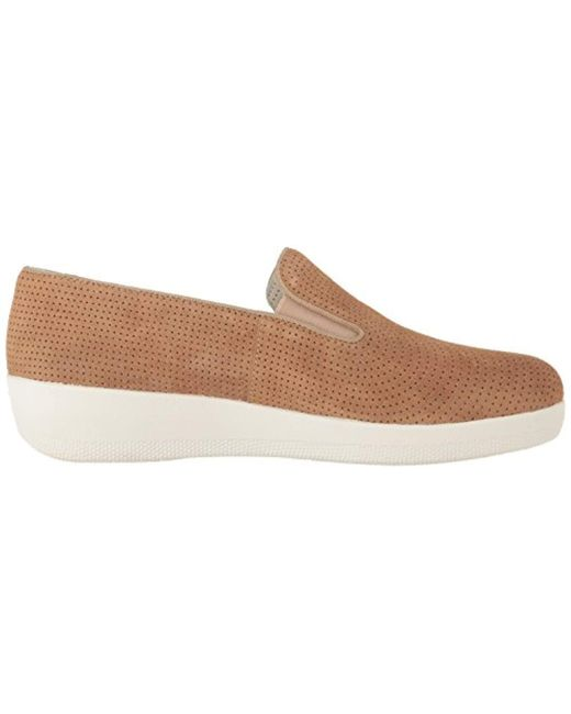 2dd3a77ee09a Lyst - Fitflop Superskate Perf Suede Loafer in Brown - Save 25%