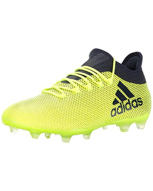 super popular 68060 ff91b Men's Yellow X 17.2 Fg Soccer Shoe, Grey/real Coral/core Black, 7.5 M Us