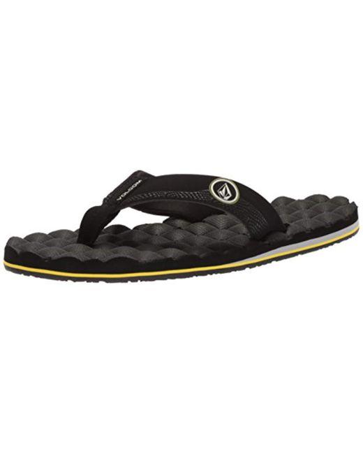 Volcom - Black Big Boys Recliner Sandals for Men - Lyst