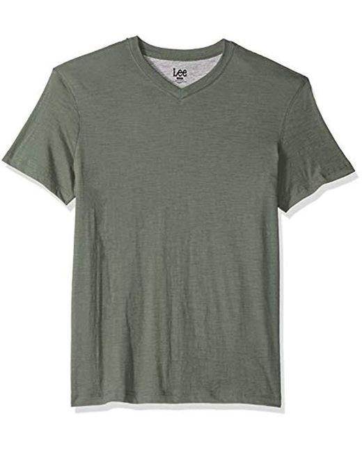 Lee Jeans - Green Short Sve Vneck Tee for Men - Lyst