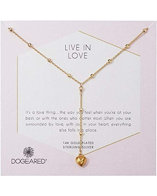 Dogeared - Metallic S Live In Life, Puffy Heart Y-necklace - Lyst