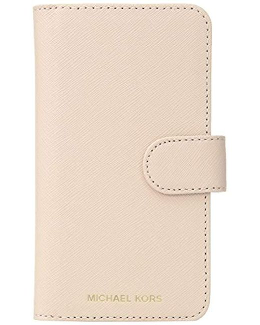 a91fc4bbd721 Lyst - Michael Kors Folio Phone Case X in Natural - Save 33%