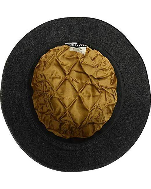 faeb982bfa5 ... Kangol - Black Quilted Denim Hunter Bucket Hat for Men - Lyst ...