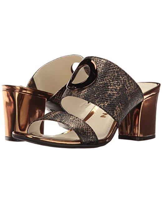 a789962fede Lyst - Anne Klein Naomi Reptile Heeled Sandal - Save 31.64556962025317%