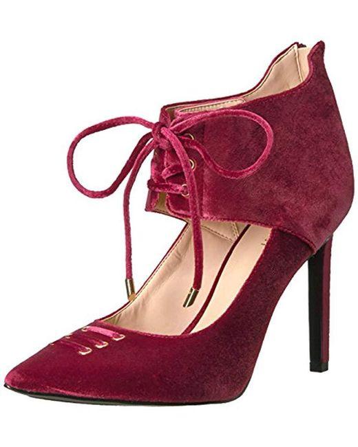 Nine West - Red Testy Fabric Heeled Sandal - Lyst