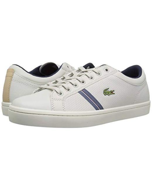 35b59da6c ... Lacoste - White Straightset Sneaker for Men - Lyst ...
