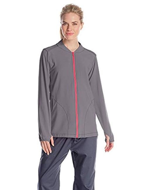 Carhartt - Gray Cross-flex Knit Mix Zip-front Scrub Jacket - Lyst