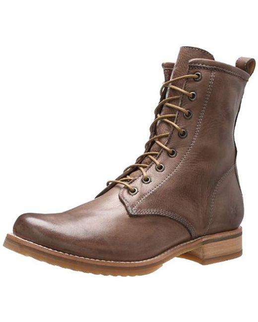 Frye - Brown Veronica Combat Boot - Lyst