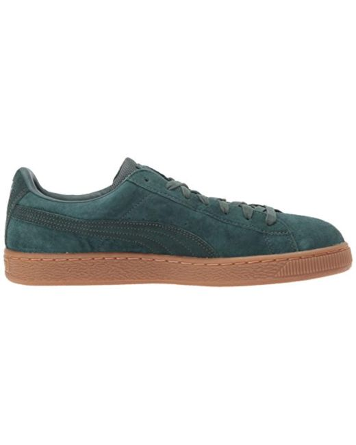 8afe96d0ab89 ... PUMA - Green Basket Classic Weatherproof Sneaker for Men - Lyst ...