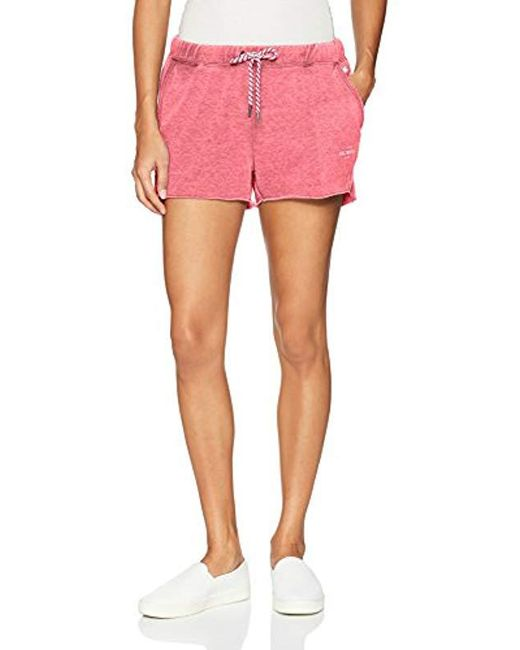 Roxy - Red One Call Away Fleece Shorts - Lyst