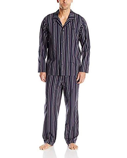 BOSS - Blue Boss Urban Striped Pajama Set for Men - Lyst