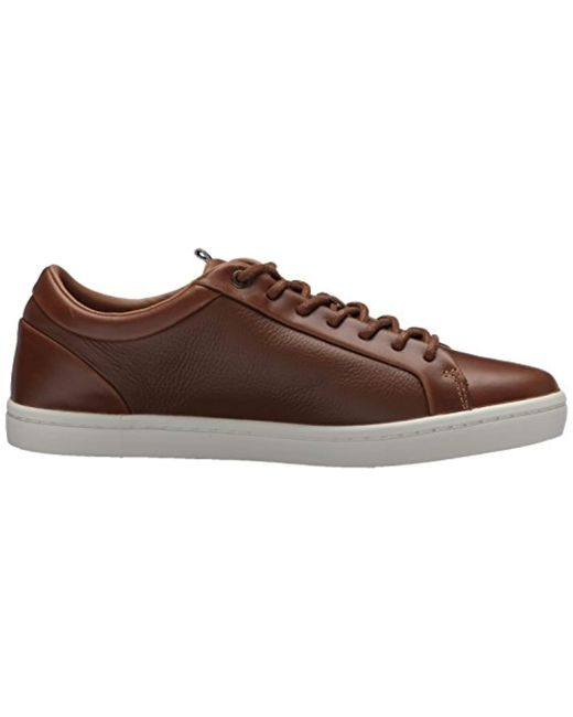 a5edb1ab3e2a8c ... Lyst Lacoste - Brown  s Straightset Sneakers for Men ...
