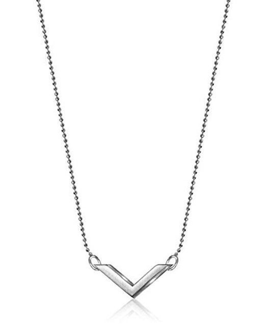 Alex Woo - Metallic Elements Chevron Pendant Necklace - Lyst