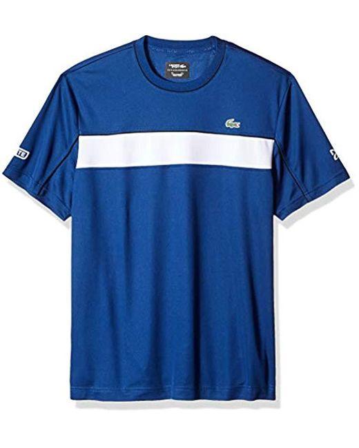 Lacoste - Blue Short Sleeve Jersey Tech Novak Graphic T-shirt, Th3333 for Men - Lyst