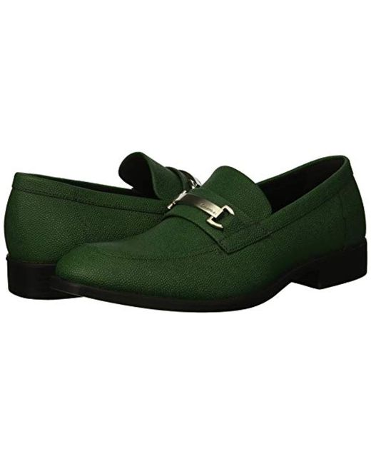 57c9757eba0 ... Calvin Klein - Green Craig Scotch Grain Leather Loafer for Men - Lyst  ...