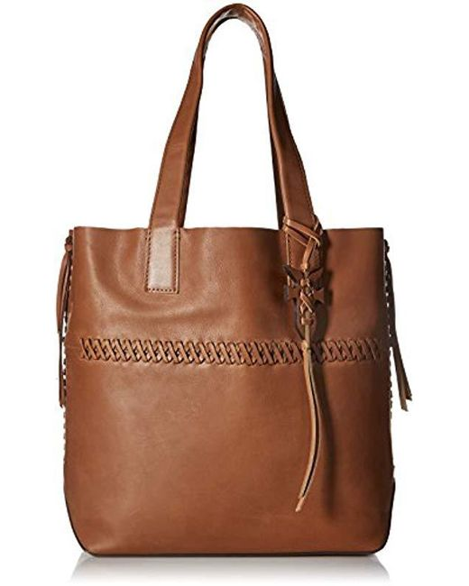 fa27dbadb Lyst - Frye Carson Whipstitch Leather Tote Bag in Brown - Save 34%
