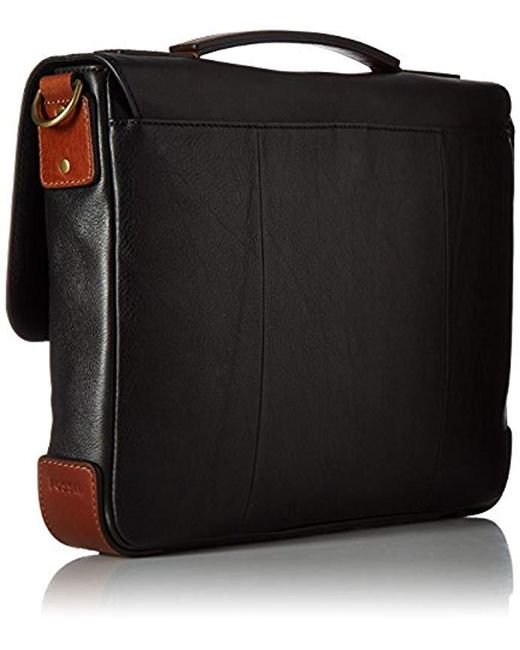 14c5c05b4aff Lyst - Fossil Defender Messenger Briefcase in Black for Men - Save 8%