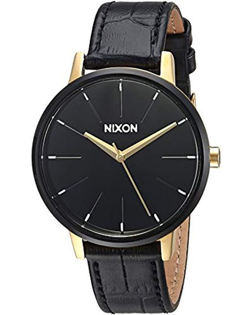 b8a17c1ae Nixon - Black Kensington Stainless Steel Watch With Leather Band - Lyst ...