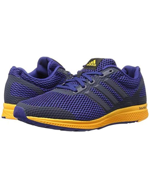 ... Adidas - Red Performance Mana Bounce Running Shoe for Men - Lyst ... b0bbbc074c3