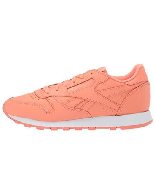 am besten verkaufen Beamten wählen Freiraum suchen Lyst - Reebok Classic Leather Sneaker in Pink
