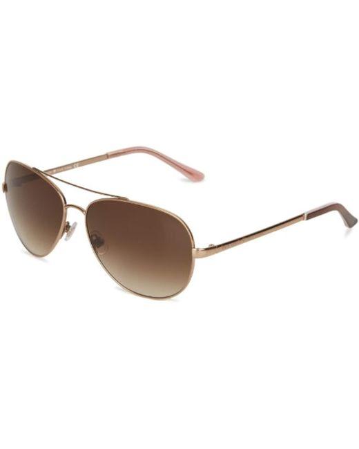 Kate Spade - Metallic Kate Spade Avaline Aviator Sunglasses - Lyst
