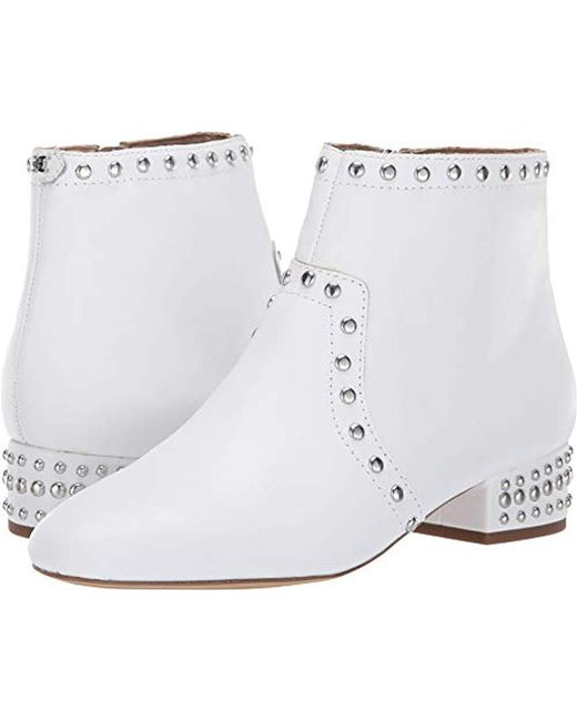 6845fed5f Lyst - Sam Edelman Ankle Boots in White - Save 64%