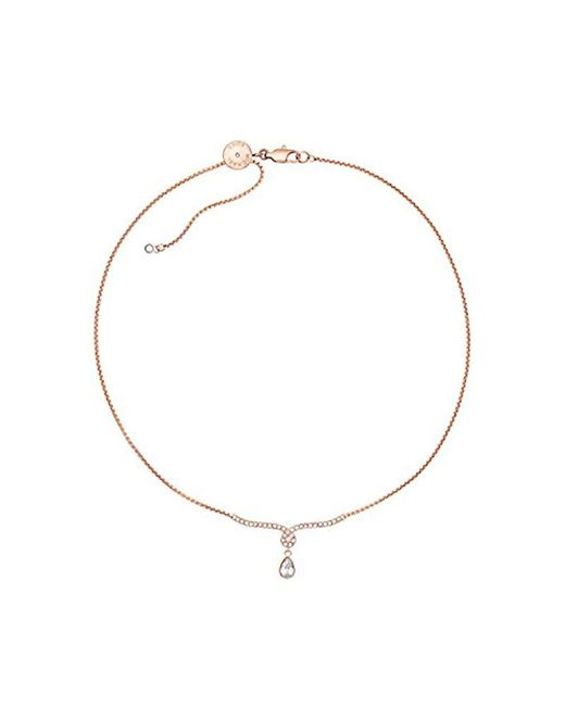 Michael Kors - Metallic S Brilliance Rose Gold-tone Pendant Necklace, One Size - Lyst