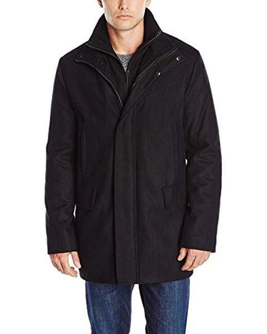 Calvin Klein - Black Wool-blend Stadium Jacket for Men - Lyst
