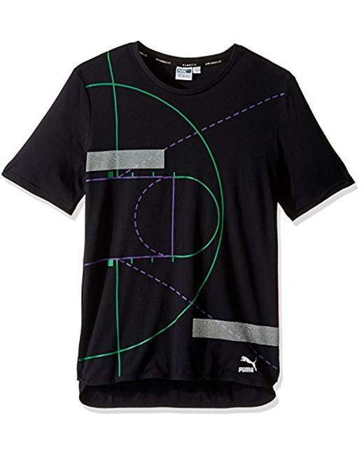 PUMA - Black Evo Graphic Longtee for Men - Lyst