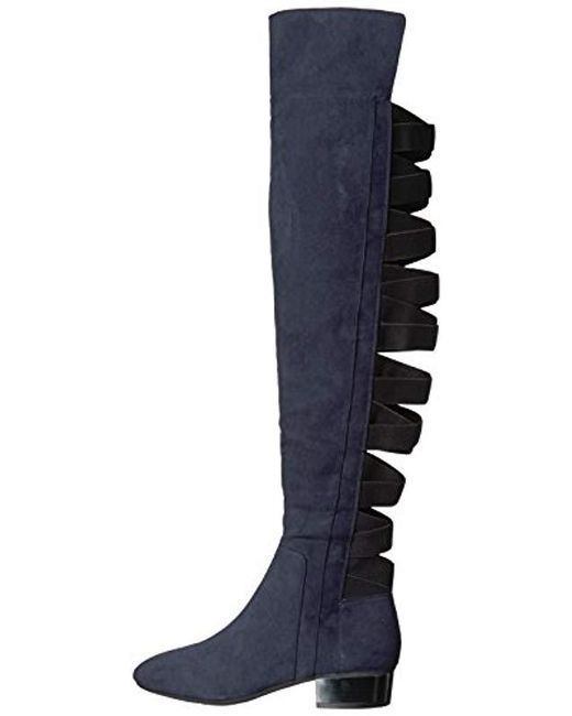 f6f2ab8af72 ... Nine West - Blue Ooohaah Wool Over The Over The Knee Boot - Lyst ...