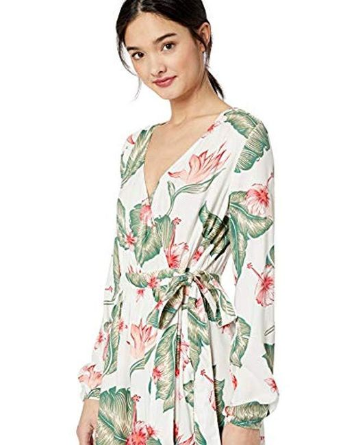 eaf03fdab0e136 ... Roxy - Multicolor Taste Of Tomorrow Maxi Wrap Dress - Lyst ...