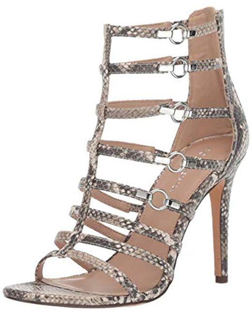 0f71d3a023 BCBGeneration - Natural Jean Caged Dress Sandal Heeled - Lyst ...