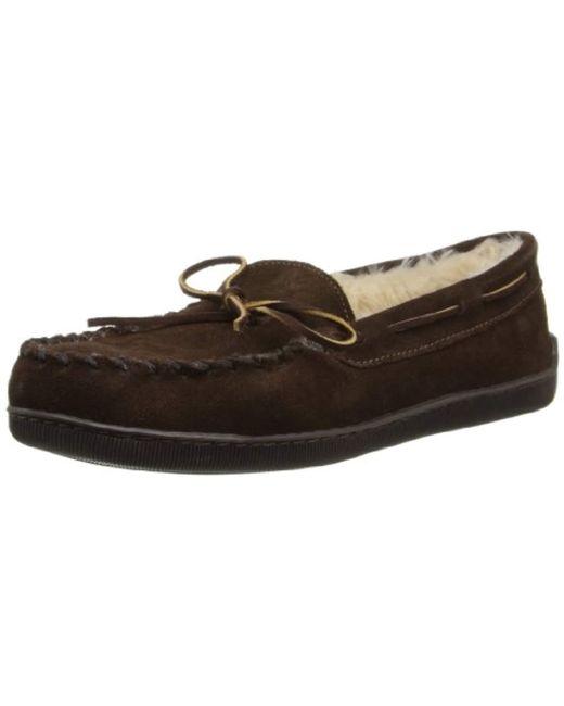 Minnetonka - Brown Pile Lined Hardsole Slipper for Men - Lyst