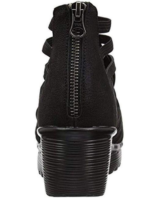 db06c635f6 Skechers Parallel-dream Queen Wedge Sandal in Black - Save 12% - Lyst