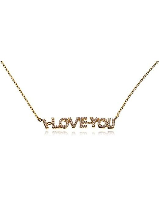 Tai - Metallic 18k Gold-plated I Love You Chain Necklace - Lyst