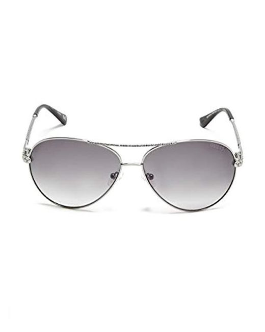 ce45d0ffa17f0 ... Guess - Multicolor Catherine Rhinestone Aviator Sunglasses - Lyst ...