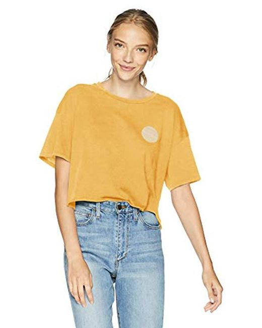 Billabong - Metallic Keep It Warm Crop Tee - Lyst