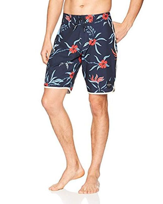 Quiksilver - Blue Highline Trespashort Sleeveer 20 Swim Trunk for Men - Lyst