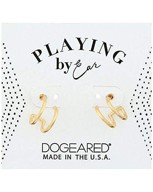 Dogeared - Metallic Pe Dbl Loop Stud Earrings, Gold - Lyst