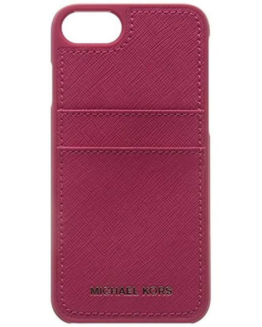 4631d4a94 Michael Kors - Multicolor Saffiano Leather Phone Case For Iphone7/8 - Lyst  ...