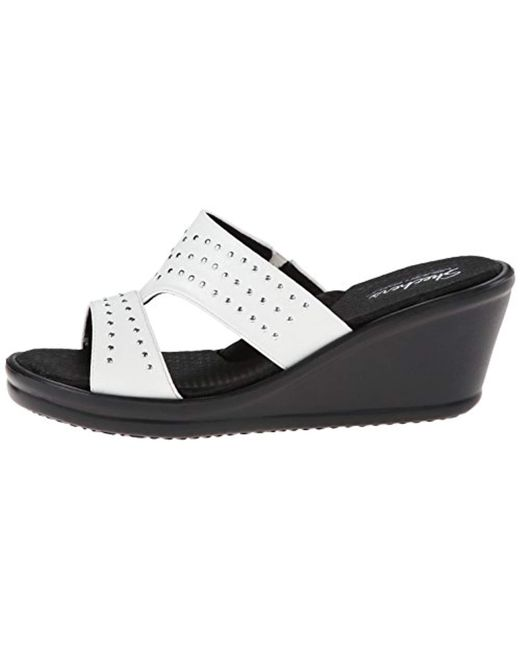 282f08de2797 ... Skechers - White Cali Rumblers-hope Float Wedge Sandal - Lyst ...