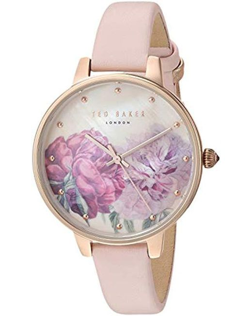 614e3424a Ted Baker - Pink Fashion Watch (model  Te50005029 - Lyst ...