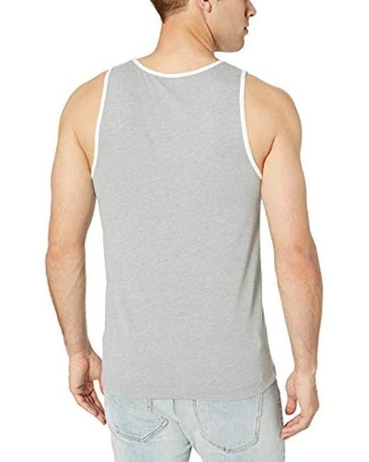 bea965fdea197b ... Amazon Essentials - Gray Slim-fit Ringer Tank Top for Men - Lyst