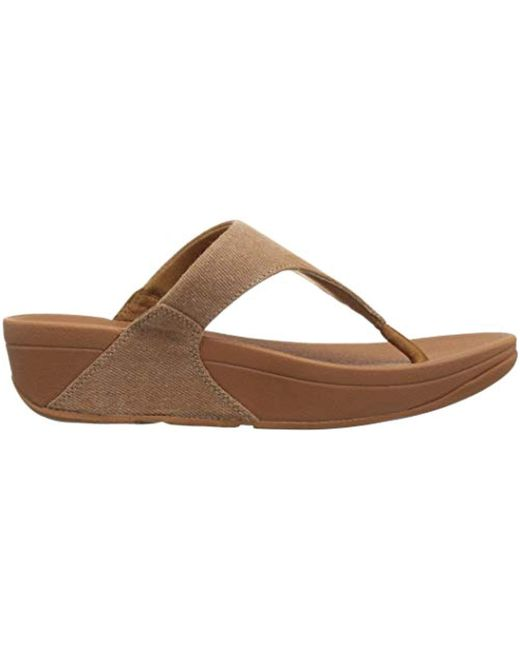 706448c35f5b Lyst - Fitflop Lulu Toe-thong Sandals-shimmer-denim Flip-flop in Natural